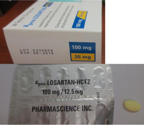 PMS-Losartan-HCTZ (CNW Group/Health Canada)