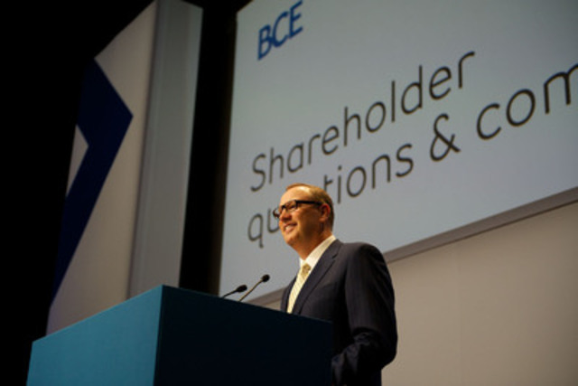 """""""Industry-leading investment in next-generation networks and services continues to drive Bell's transformation,"""" said George Cope, President and Chief Executive Officer of BCE and Bell at the 2013 BCE Annual General Meeting (CNW Group/Bell Canada)"""