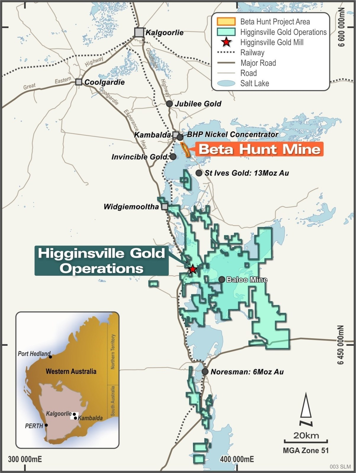 Figure 1:  Integrated Beta Hunt – Higginsville Gold Operations