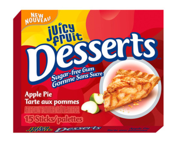 Juicy Fruit Desserts Single Pack: Apple Pie. (CNW Group/Wrigley Canada)