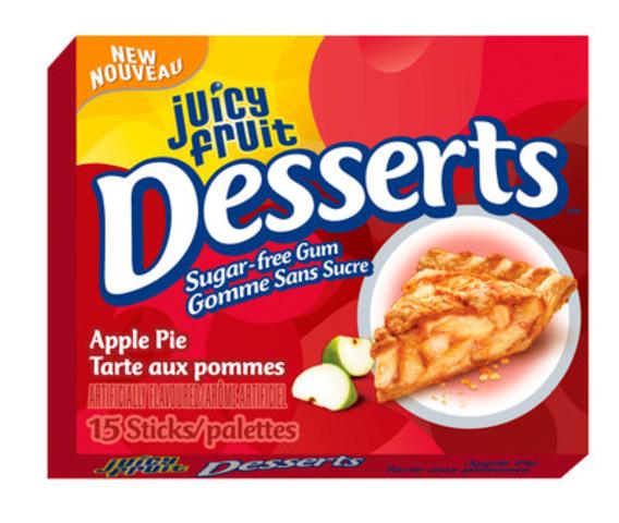 Juicy Fruit Desserts Single Pack: Apple Pie. (CNW Group/Wrigley Canada)