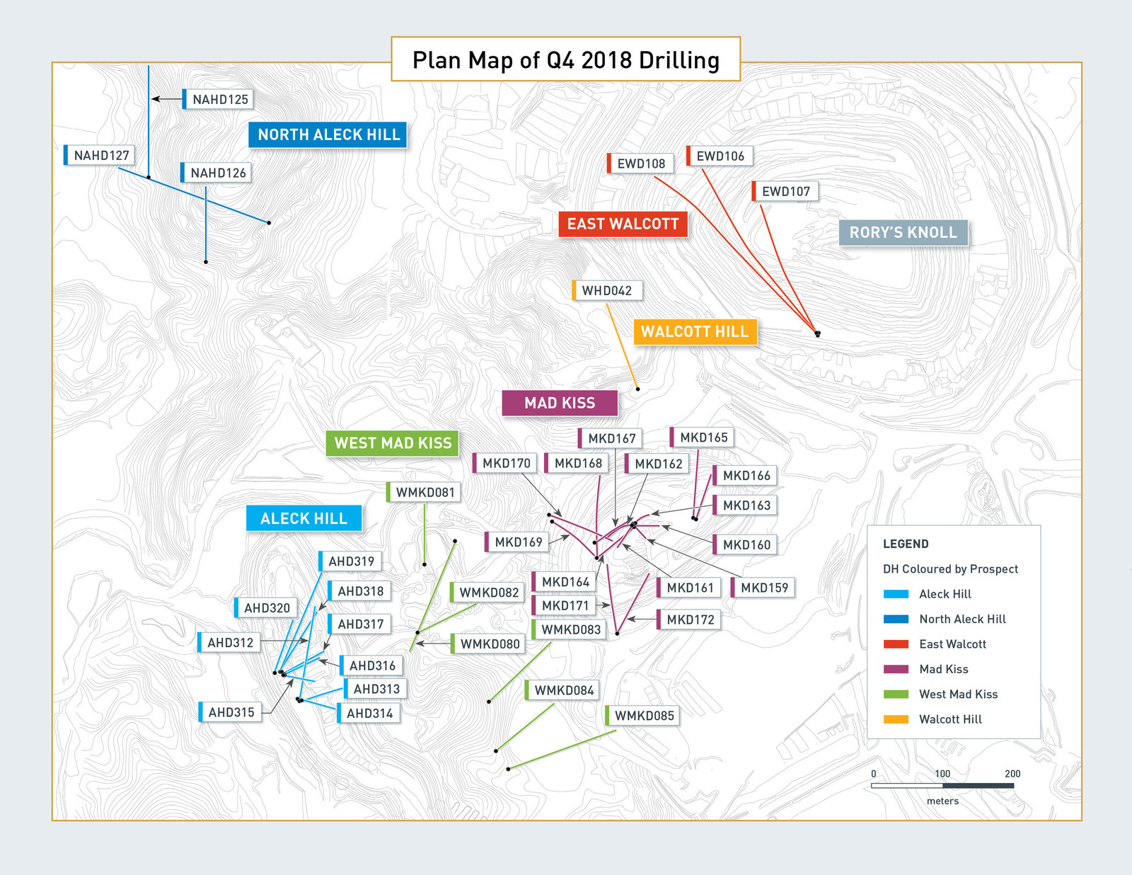 Plan Map of Q4 2018 Drilling