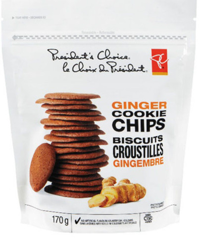 PC Ginger Cookie Chips (CNW Group/Loblaw Companies Limited)