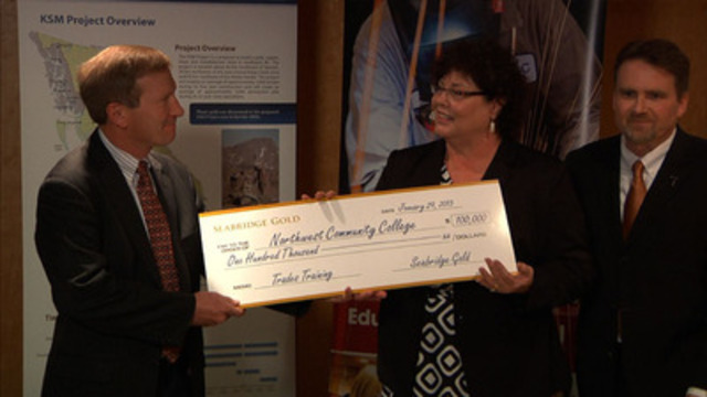 Video: Seabridge Gold contributes $100,000 towards trades training in northwestern British Columbia