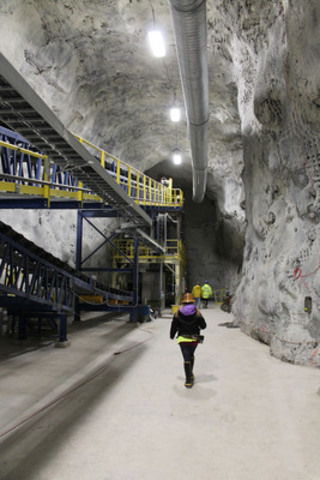 Revenue Silver Mine Underground Crushing Gallery - photo credit Fortune Minerals Limited (CNW Group/Fortune Minerals Limited)