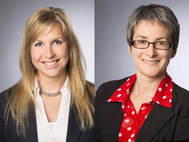 (de gauche à droite) : Marie-Anne Poulin et Annie Rousseau (Groupe CNW/Association des propriétaires de boisés de la Beauce)