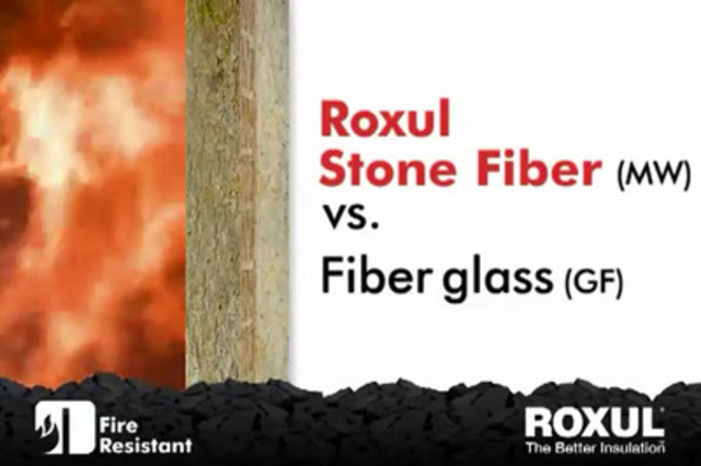 Video: Fire resistance comparison between Roxul and Fiberglass insulation. This test was conducted with the involvement of fire department officials to compare the fire-resistance of Roxul stone wool insulation with conventional fiberglass insulation.
