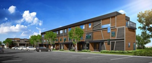Le Hameau St-Jacques, un projet du Fonds immobilier de solidarité FTQ et du Groupe immobilier SMB dans l'arrondissement Les Rivières à Québec. (Groupe CNW/Fonds locaux de solidarité FTQ)