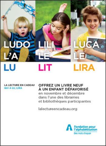 Nouveau visuel du programme (Groupe CNW/Fondation pour l'alphabétisation)