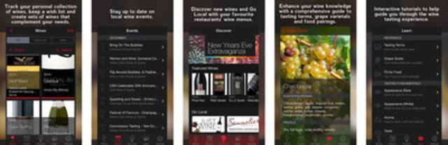 Whether you're a novice wine lover or expert sommelier, Just Wine is the most comprehensive app available in the App Store. (CNW Group/Mobility Quotient Solutions Inc.)