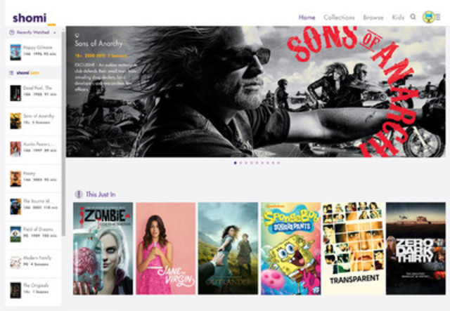 Here we come, Canada! The shomi experience is going direct-to-consumer this summer.   (CNW Group/shomi)