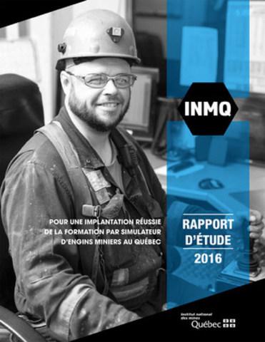 Page couverture du rapport d'étude de l'Institut national des mines (INMQ) (Groupe CNW/Institut national des mines)