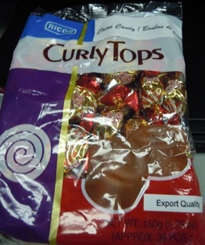 Ricoa Curly Tops front label (CNW Group/Canadian Food Inspection Agency (CFIA))