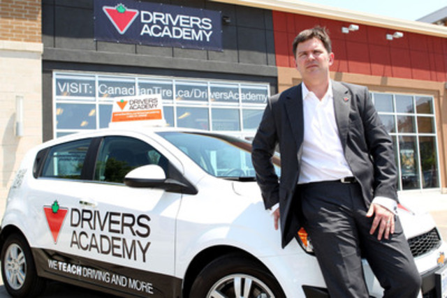 Allan MacDonald, Senior Vice President of Automotive at Canadian Tire launches the Canadian Tire Drivers Academy in Toronto on Thursday, June 21. The Canadian Tire Drivers Academy combines road safety and car maintenance education. (CNW Group/CANADIAN TIRE CORPORATION, LIMITED)