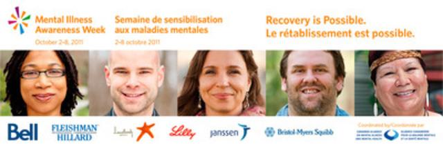 Déstigmatiser la maladie mentale : Semaine de sensibilisation aux maladies mentales du 2 au 8 octobre 2011 (Groupe CNW/ALLIANCE CANADIENNE POUR LA MALADIE MENTALE ET LA SANTE MENTALE)