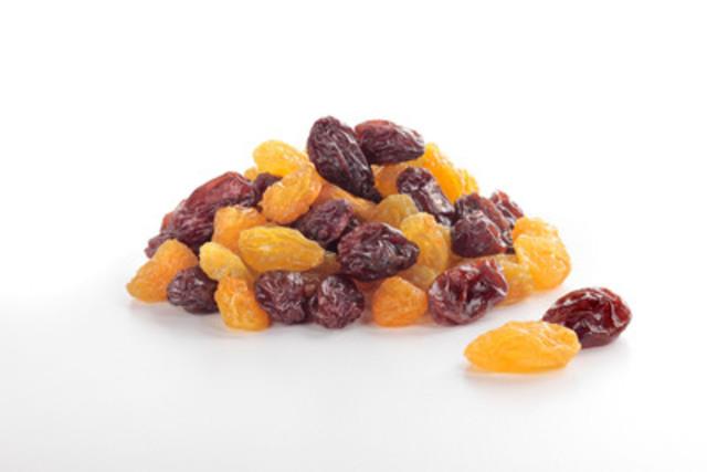 Les raisins secs California Raisins offrent un apport nutritionnel tout à fait naturel, sans sucre ajouté. Sans gras ni cholestérol, mais rempli d'antioxydants et de fibres, ce petit fruit bien puissant est formidable pour la collation rapide ou au retour de l'école. (Groupe CNW/California Raisin Marketing Board)