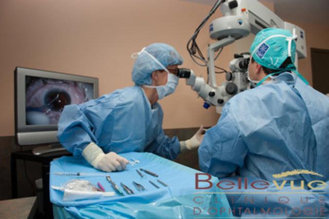 L''implant XEN Gel MD  pour le glaucome : une première au Quebec (Groupe CNW/Clinique d'Ophtalmologie Bellevue)
