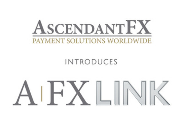 AscendantFX introduces AFXLink, a new 1st for payments in 150+ currencies worldwide. AFX links you to our global network of bank partners. (CNW Group/AscendantFX Capital Inc.)