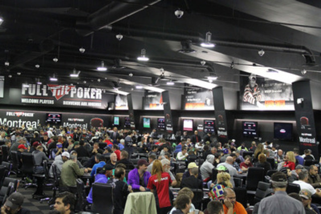 A poker tournament in Quebec has set a new Canadian record for number of entrants in a poker tournament. The Full Tilt Poker Montreal Festival Main Event drew 1,625 entrants, smashing the previous Canadian record of 1,173 players. Players from all over the world turned out in Montreal to try and claim a portion of the $1 million guaranteed prize pool, which has grown by more than half a million dollars to $1,576,250 due to the record number of entries. (CNW Group/FullTiltPoker.net)