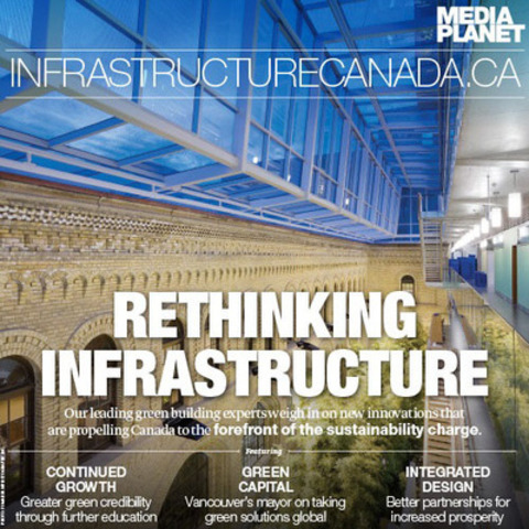 There are examples of excellence and innovation in green building seen across Canada, including the Terrence Donnelly Centre for Cellular and Biomolecular Research, located in the heart of Toronto.   (CNW Group/Mediaplanet Ltd)