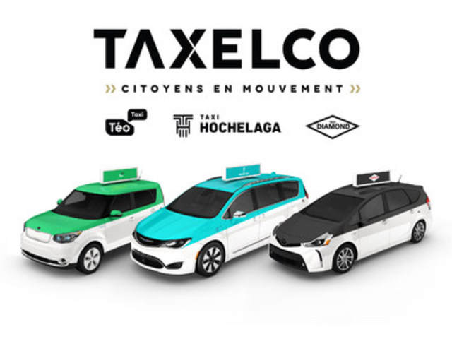 Here's a peak of the modern and ecofriendly Taxelco fleet, now offering under three brands, the same outstanding, safe and efficient service. (CNW Group/Taxelco)