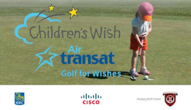 Children's Wish Air Transat Golf for Wishes (CNW Group/The Children's Wish Foundation of Canada)