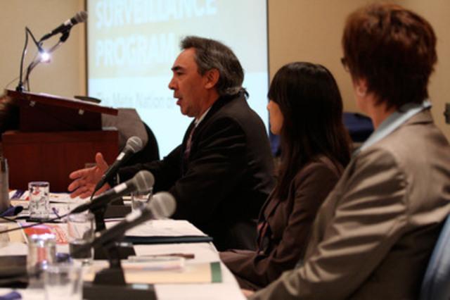 Le Président, Gary Lipinski, parle à l'évènement du NMO au sujets des maladies chroniques (Groupe CNW/NATION METISSE DE L'ONTARIO)