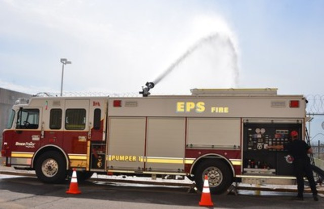 Bruce Power purchased five new fire trucks as one of its post Fukushima enhancements. (CNW Group/Bruce Power)