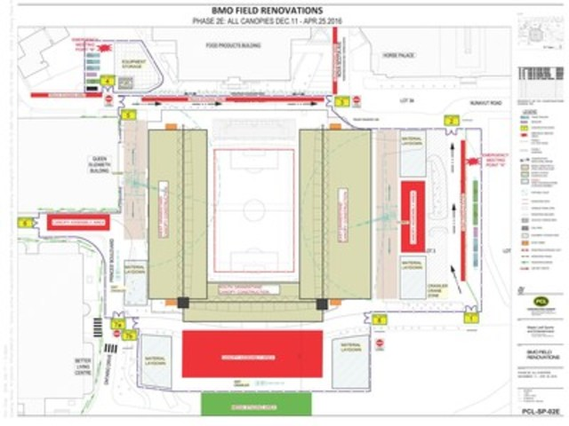 BMO Field Site Map (CNW Group/Maple Leaf Sports & Entertainment Ltd.)