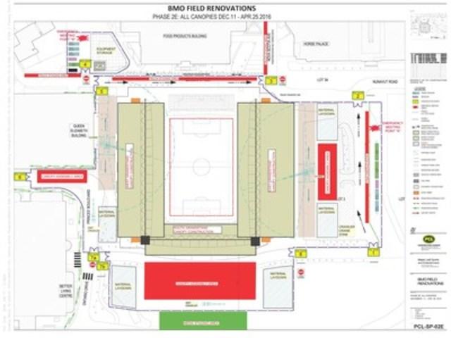 BMO Field Site Map (CNW Group/Maple Leaf Sports & Entertainment Ltd.)