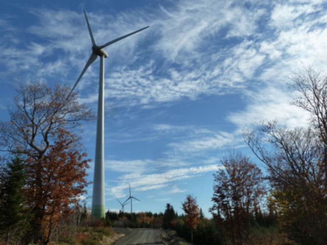 New Richmond Wind Facility in Gaspé, Quebec. Photo courtesy ENERCON Canada Inc. (CNW Group/Canadian Wind ...