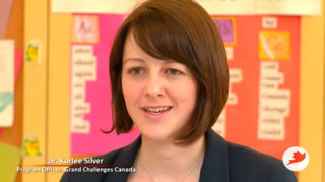 Video: Dr. Karlee Silver says the goal of Grand Challenges Canada's Saving Brains program is to improve the cognitive potential of developing world children to benefit their communities and their countries.  Grand Challenges Canada, funded by the Government of Canada, supports bold ideas with big impact.