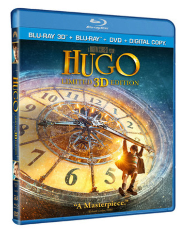 Nominated For 11 Academy Awards® Including Best Picture and Best Director - renowned director Martin Scorsese's groundbreaking and original adventure, HUGO Debuts on Blu-ray 3D™, Blu-ray™ and DVD February 28, 2012. (CNW Group/Paramount Home Media Distribution)