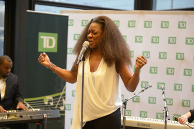 "Jully Black performs at TD's ""For the Love of Music"" Valentine's concert event celebrating the 10th anniversary of TD Music (CNW Group/TD Bank Group)"