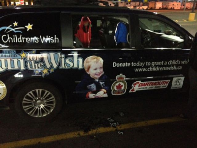 HMCS Halifax Run For the Wish's vandalized van (CNW Group/The Children's Wish Foundation of Canada)
