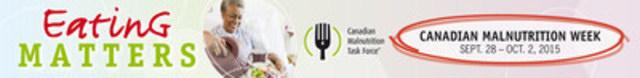 Eating Matters. Canadian Malnutrition Week (Sept. 28 to Oct. 2). (CNW Group/Canadian Malnutrition Task Force)