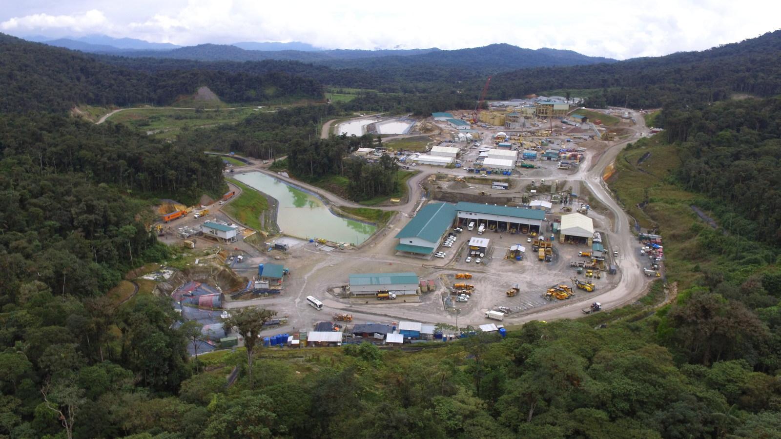 Figure 1. Fruta del Norte overall construction well advanced