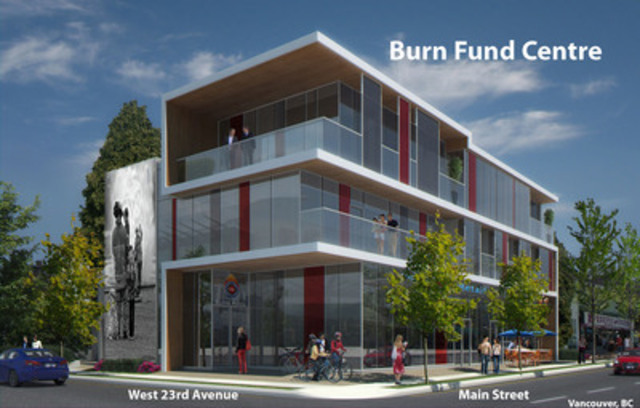 The new Burn Fund Centre will provide a home-away-from-home for B.C.'s Burn & Trauma Survivors. (CNW Group/British Columbia Professional Fire Fighters Burn Fund)