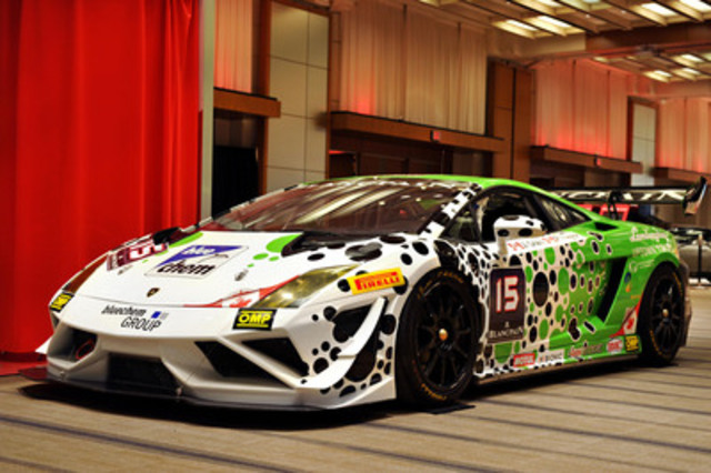 Winning design of the Lamborghini V10 Gallardo race car. (CNW Group/Grand Touring Automobiles)