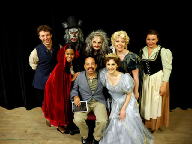David Krane (centre) surrounded by graduating student cast of Stephen Sondheim's INTO THE WOODS, currently ...