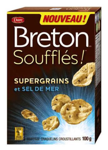 Pour les Canadiens qui désirent une collation délicieuse et sans culpabilité, Dare présente les Breton(MD) Soufflés!(MC), le premier craquelin croustillant à base de supergrains au Canada. (Groupe CNW/Aliments Dare Limitée)