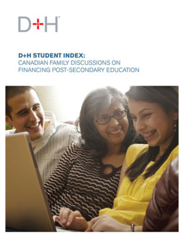 The D+H Student Index surveyed 752 Canadian high-school and post-secondary students about topics related to post-secondary education. (CNW Group/DH Corporation)