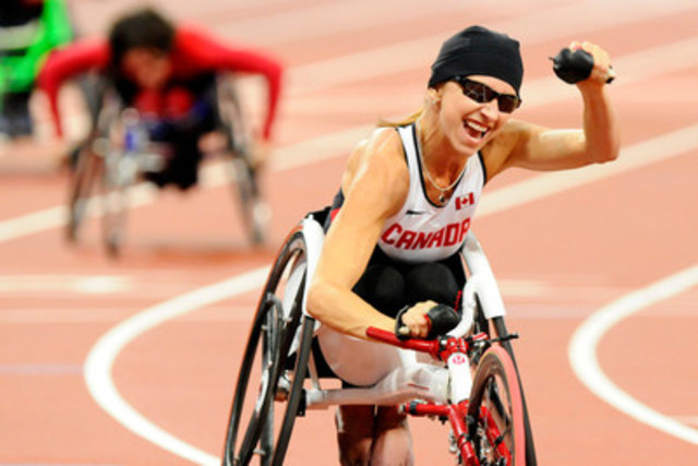 Michelle Stilwell (Parksville, B.C.) won gold and silver at London 2012 and has been nominated for selection to Team Canada at the Rio 2016 Paralympic Games. Photo: Phillip MacCallum / Canadian Paralympic Committee (CNW Group/Canadian Paralympic Committee (CPC))