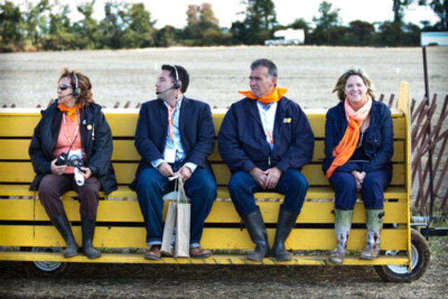 NDP and Cornerstone President Sandra Clifford travels with Andrea Horwath on September 21st at the International Plowing Match. (CNW Group/Ontario Liberal Party)