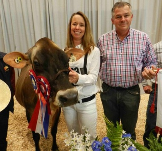 Jim and Annette Ostrom and Martha (CNW Group/Royal Agricultural Winter Fair)