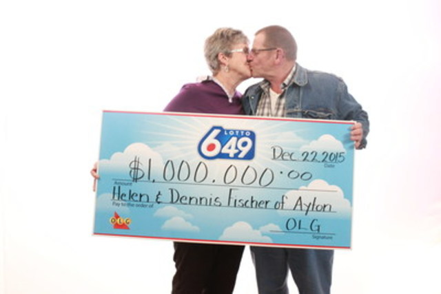 Married for 40 years, Helen and Dennis Fischer of Ayton plan on touring Canada together with their LOTTO 6/49 winnings. (CNW Group/OLG)