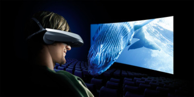 """Sony Head Mounted Display """"Personal 3D Viewer"""" high definition OLED panel delivers HD picture quality (CNW Group/Sony of Canada Ltd.)"""