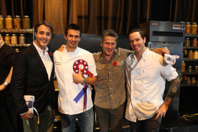 Chef Justin Downes at the 2013 Royal Agricultural Winter Fair with CTV's eTalk Host Ben Mulroney and Chef ...