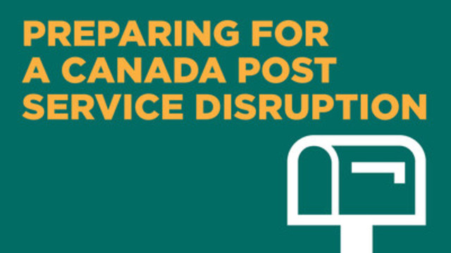 Toronto Hydro telling customers how to prepare for a potential disruption to mail delivery (CNW Group/Toronto Hydro Corporation)