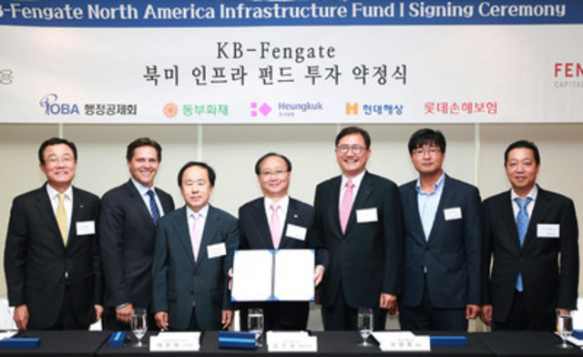 Investment Fund Agreement Signing Ceremony, Seoul, Korea (CNW Group/Fengate Capital Management)